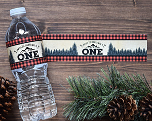 Wild One Birthday Water Bottle Wraps