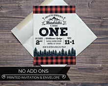 Load image into Gallery viewer, Lumberjack Birthday Invitation Kraft Envelope
