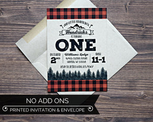 Lumberjack Birthday Invitation Kraft Envelope