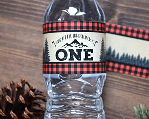 Wild One Lumberjack Birthday Labels