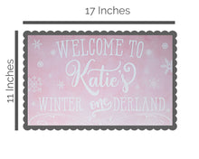 Load image into Gallery viewer, Winter Onederland Birthday Welcome Sign 11x17