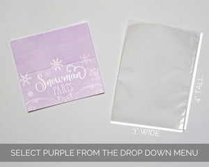 Winter Onederland Party Favors Purple
