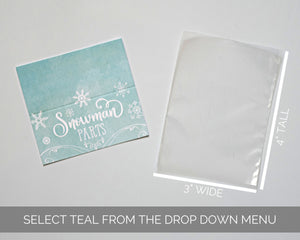 Winter Onederland Party Favors Teal