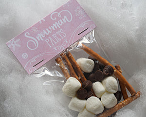 Winter Onederland Snowman Parts Treat Bag Toppers