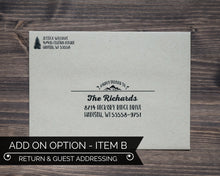 Load image into Gallery viewer, Guest Addressing Lumberjack Birthday Party Invitation Envelope