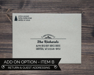 Guest Addressing Lumberjack Birthday Party Invitation Envelope