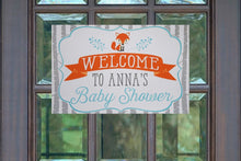Load image into Gallery viewer, Woodland Baby Shower Decorations Welcome Sign
