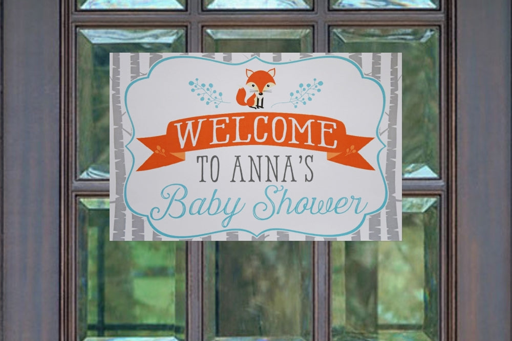 Woodland Baby Shower Decorations Welcome Sign