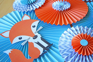 Woodland Baby Shower Fox Hanging Wall Decorations