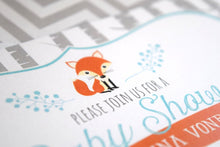 Load image into Gallery viewer, Woodland Fox Baby Shower Invitation