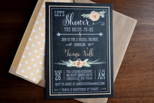 Load image into Gallery viewer, Rustic Bridal Shower Brunch Invitation