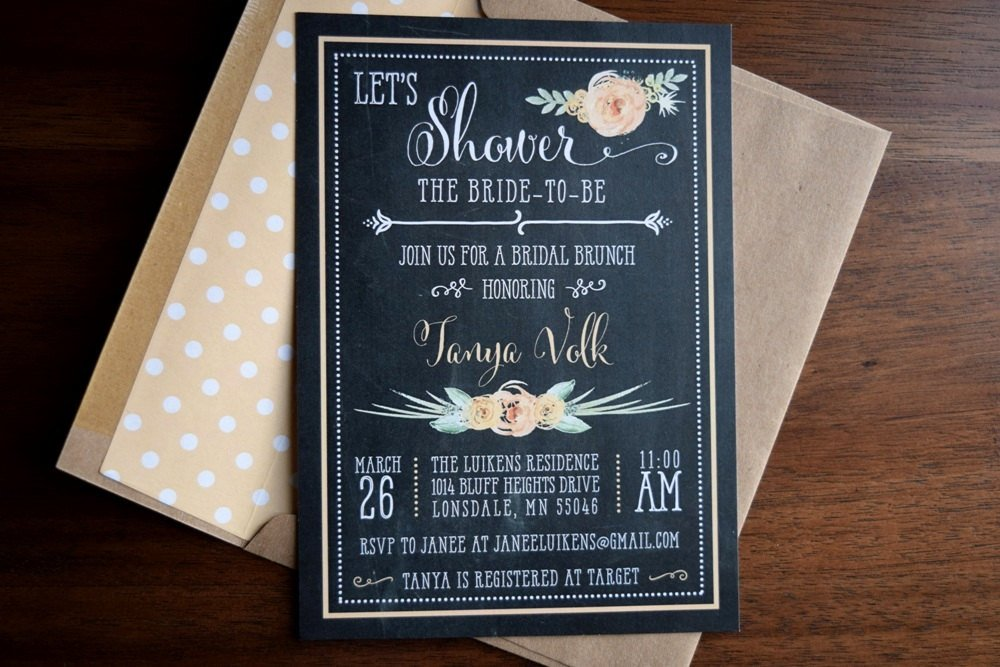 Rustic Bridal Shower Brunch Invitation