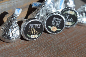 Future Mrs. Bride to Be Rustic Bridal Shower Stickers