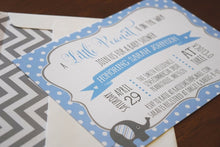 Load image into Gallery viewer, Elephant Baby Shower Invitation