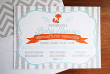 Load image into Gallery viewer, Woodland Baby Shower Invitation