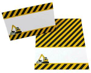 Construction Theme Party Tent Cards