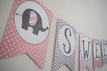 Load image into Gallery viewer, Elephant Baby Shower Decorations Banner