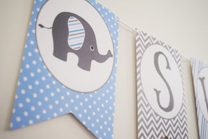 Elephant Boy Baby Shower Decorations