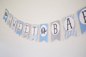 Elephant Baby Shower Banner