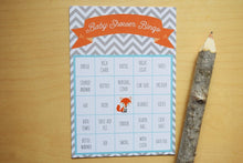 Load image into Gallery viewer, Woodland Baby Shower Bingo Cards Fox