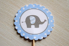 Load image into Gallery viewer, Elephant Cupcake Toppers