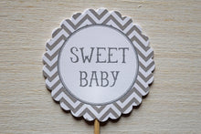 Load image into Gallery viewer, Boy Baby Shower Cupcake Toppers