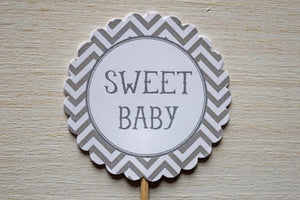 Boy Baby Shower Cupcake Toppers