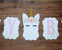 Load image into Gallery viewer, Unicorn Birthday Party Banner