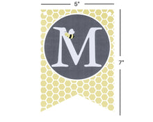 Load image into Gallery viewer, Bumble Bee Baby Shower Banner with Honeycomb Pattern