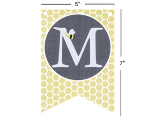 Bumble Bee Baby Shower Banner with Honeycomb Pattern