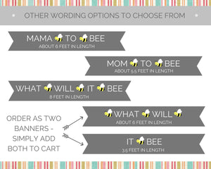 What Will It Bee Gender Reveal Party Banner