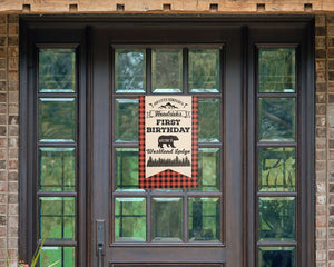 Lumberjack Buffalo Plaid Birthday Party Decoration