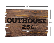 Load image into Gallery viewer, Lumberjack Birthday Party Decoration Outhouse Sign