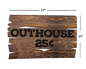 Lumberjack Birthday Party Decoration Outhouse Sign