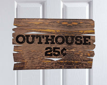 Load image into Gallery viewer, Lumberjack Birthday Party Decorations Outhouse Sign