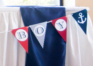 Nautical Baby Shower Decorations Banner