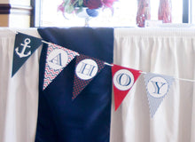 Load image into Gallery viewer, Ahoy It's A Boy Banner Nautical Baby Shower Decorations