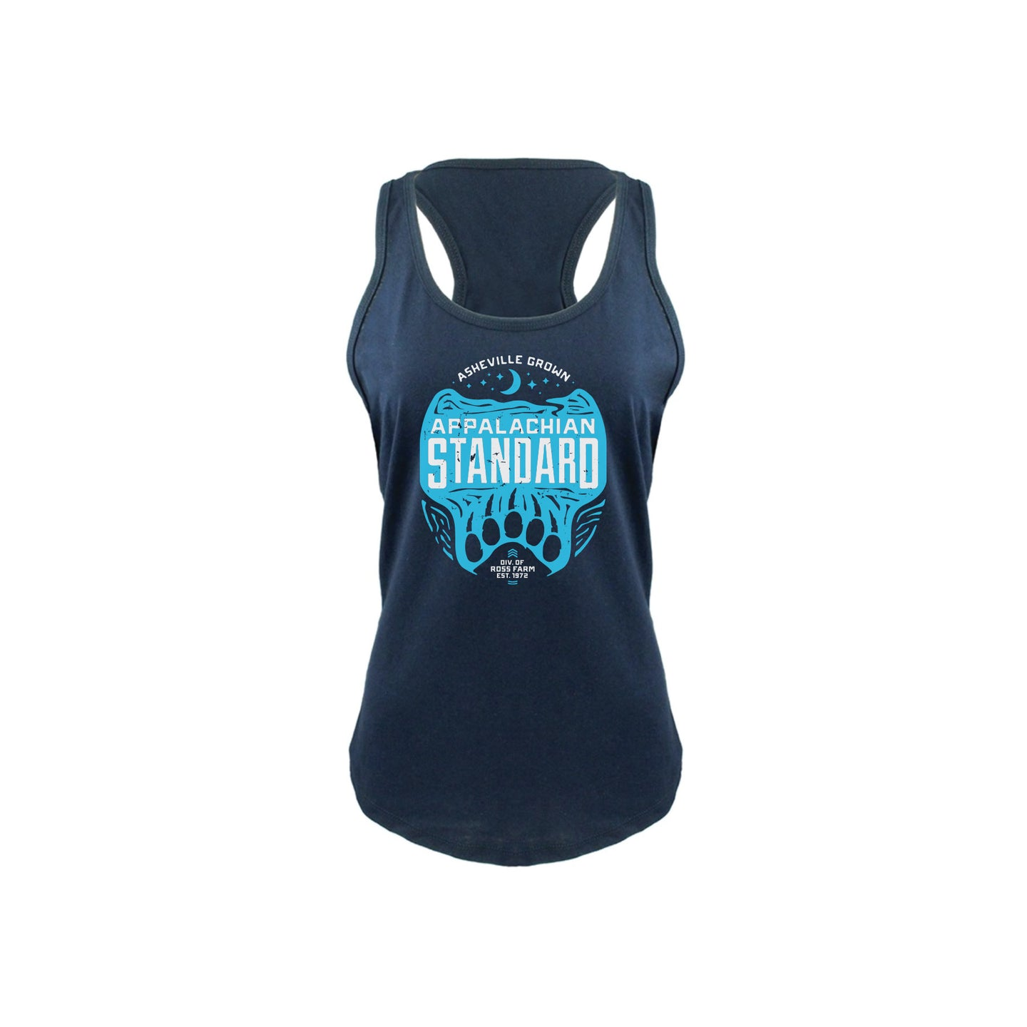 Badge and Rollie, Racerback Tank- Midnight Navy