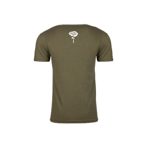 Grow Your Standard Rollie, Unisex Short Sleeved Tee- Military Green