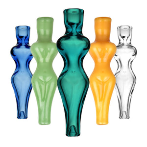 Hourglass Nude Woman Glass Taster - 4.75""