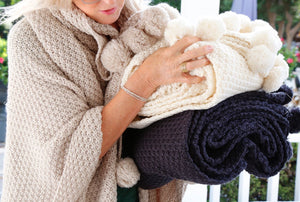 Riley Oversized Throw Pompom at Home