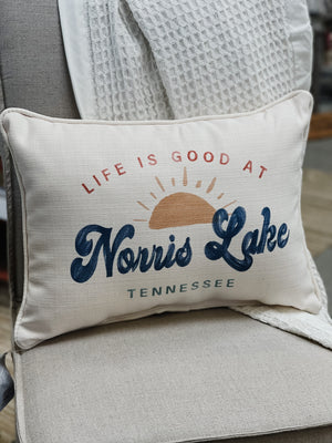 Life is Good at Norris Lake Pillow