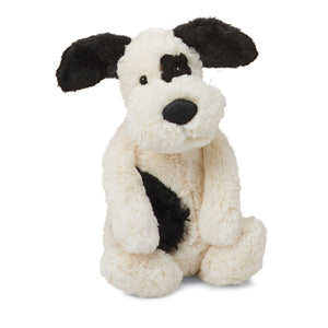JellyCat Black/Cream Bashful Puppy