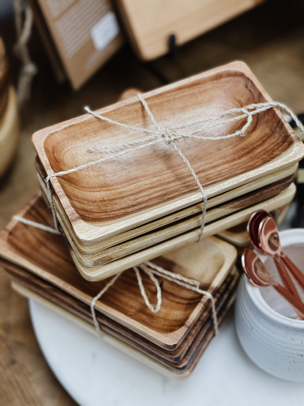 Wood Tray Set of 3