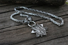 Load image into Gallery viewer, Stainless Steel Wolf Head Kings Chain