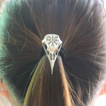 Load image into Gallery viewer, Raven Skull Hair Tie