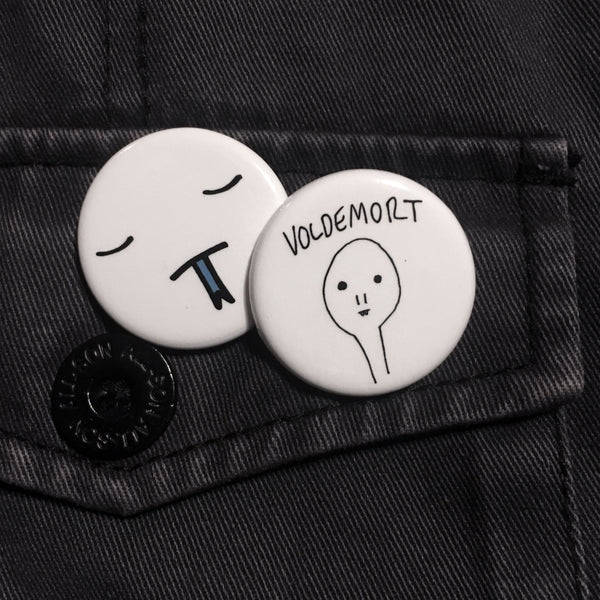 voldemort/snakeface button set