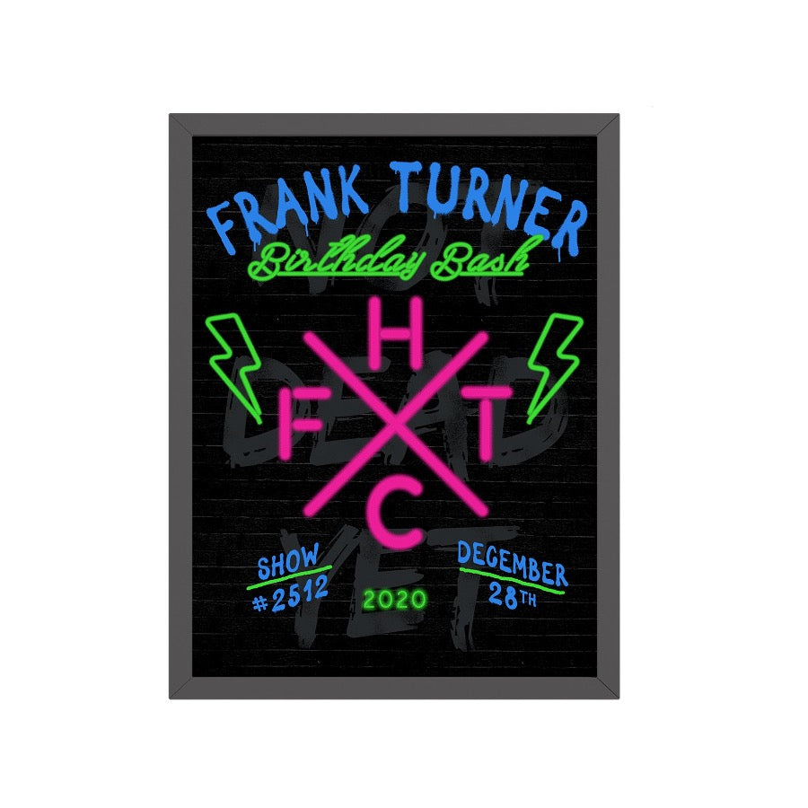 Frank Turner Birthday Poster