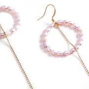 Alana Pearl Hoop Earrings