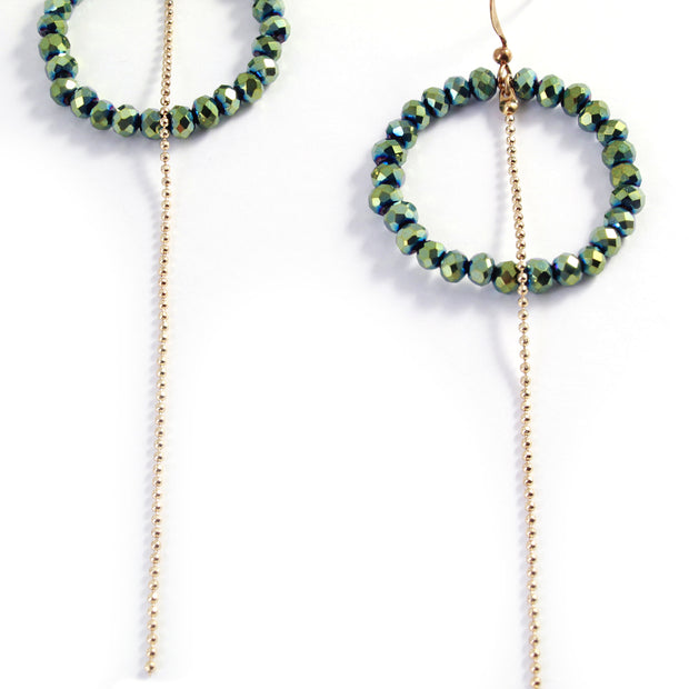 Gigi Crystal Hoop Earrings